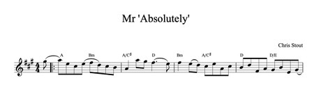 Mr Absolutely - Chris Stout, solo fiddle & mp3