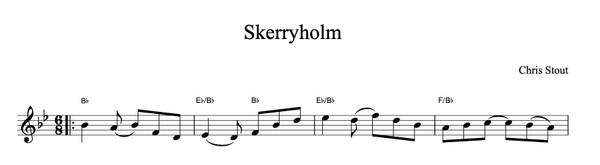 Skerryholm - Chris Stout, solo fiddle & mp3