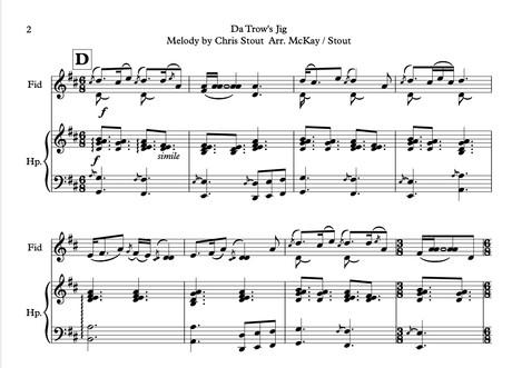 Da Trow's Jig, Chris Stout Harp & Fiddle (arr. McKay / Stout)