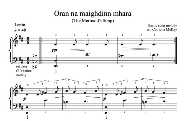 Oran na maighdinn mhara, The Mermaid's Song arr. C McKay