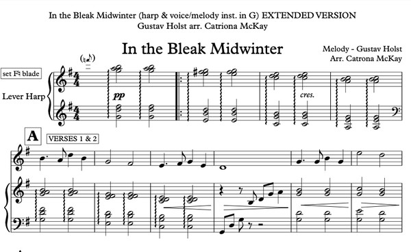 In the Bleak Midwinter - Gustav Holst arr. Catriona McKay