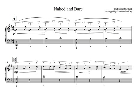 NAKED AND BARE arr. C McKay