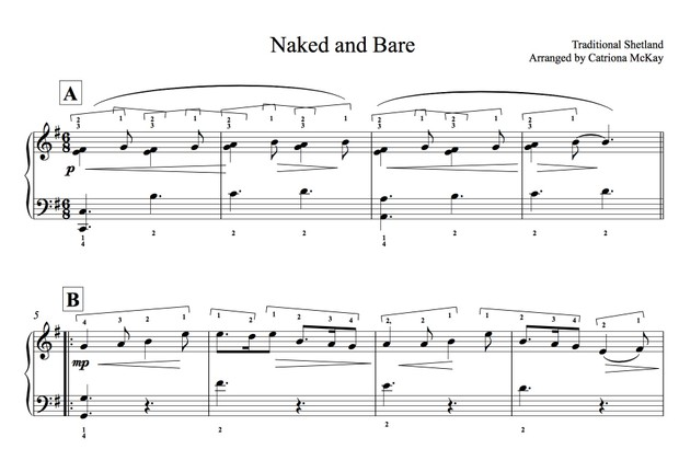 NAKED AND BARE arranged by Catriona McKay