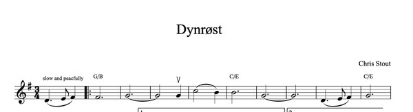 Dynrøst - Chris Stout, solo fiddle & mp3