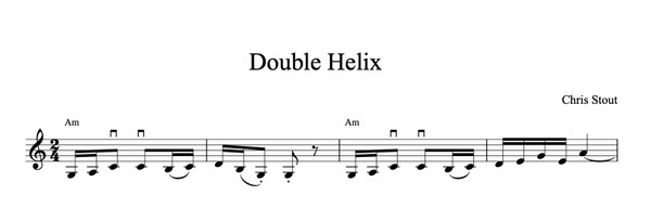 Double Helix - Chris Stout solo fiddle & mp3