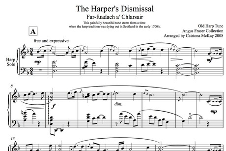 The Harper's Dismissal, Advanced Harp Solo, arr. C McKay