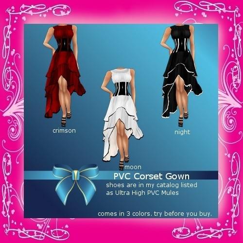 PVC Corset Gown