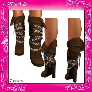 Freebie - Chained Western Boots