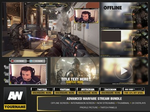 Full Twitch package (Advanced Warfare)