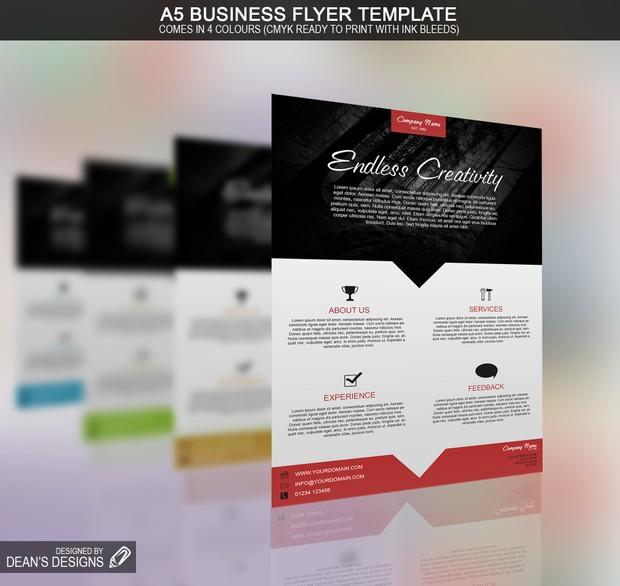 A5 Business Flyer Template