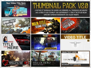 YouTube Thumbnail Pack V2