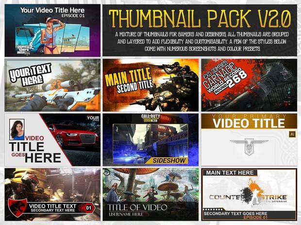 YouTube Thumbnail Pack V2