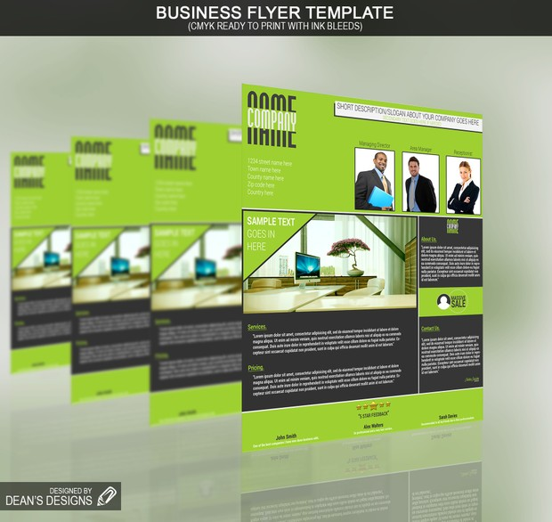 Professional Flyer Template PSD
