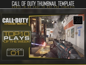 YouTube thumbnail template (Advanced Warfare)