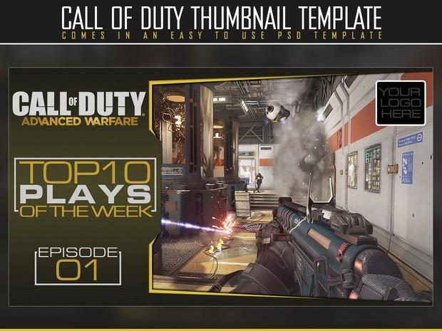 YouTube thumbnail template (Advanced Warfare)