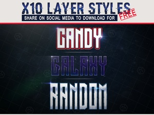3x FREE Layer styles pack