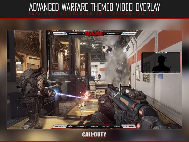 Video overlay template (Black & Silver)
