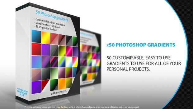 Photoshop Gradient Pack (x50 Gradients)