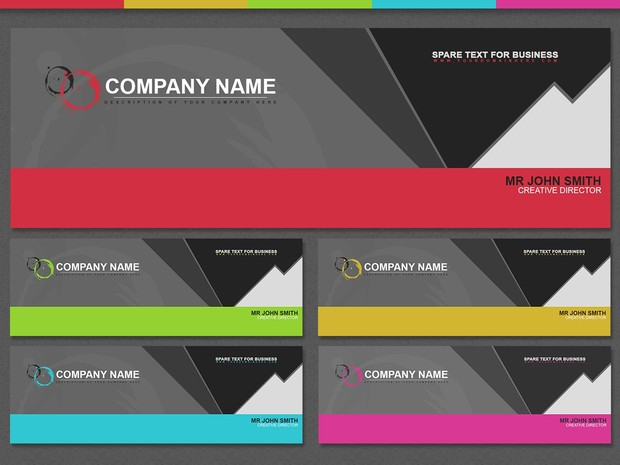 Corporate style header pack