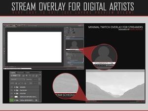 Minimal Twitch Overlay & Offline image.
