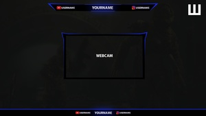 NICE TWITCH & YOUTUBE OVERLAY FULL HD