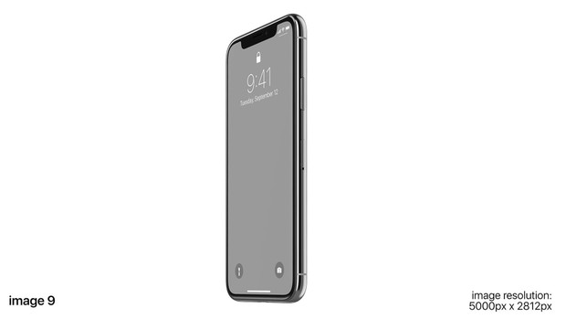 Apple iPhone X screen mockups set for Photoshop