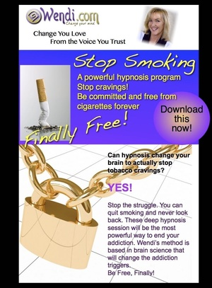 Stop Smoking with Hypnosis- the powerful, permanent way to quit cigarettes for good.