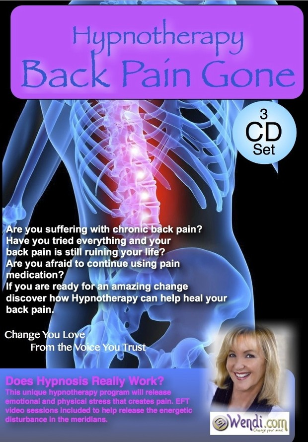 Back Pain Gone! Hypnotherapy to end your back pain and heal your body