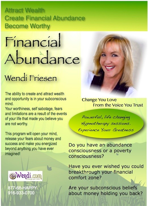 Financial Abundance- The Hypnosis program to give you a wealth mindset