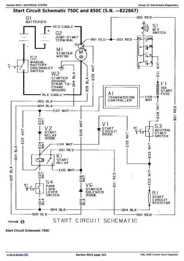 John Deere 750c 850c Crawler Dozer Diagnostic Operat Jd Construction