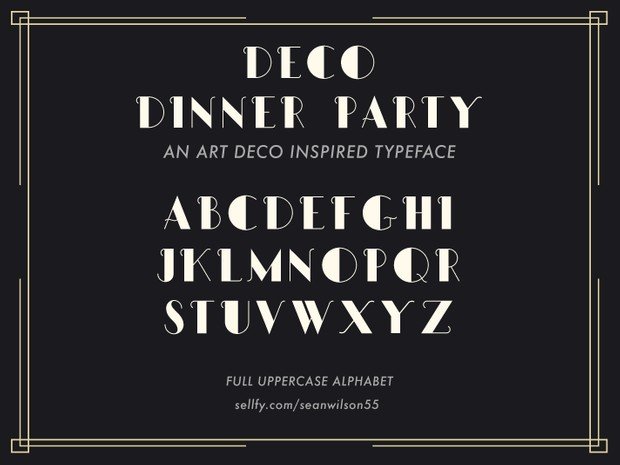 Deco Dinner Party