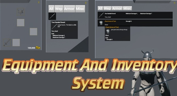 inventory and equipment system for unreal engine 4 9