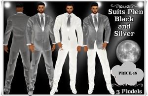 Full Suit Men Silver