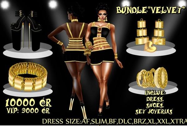 Bundle Velvet gold