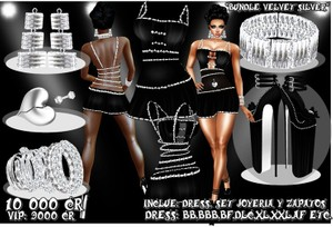Bundle Velvet Silver