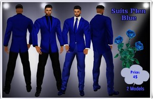 Full Suit Men Blue