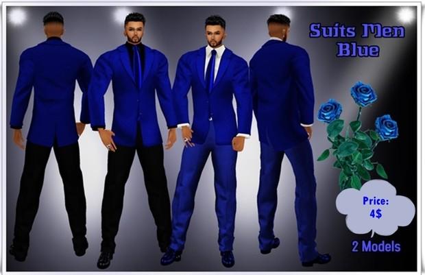 Full Suit Men Blue