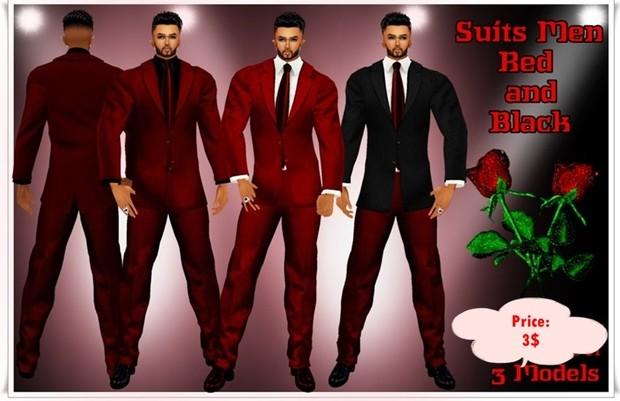 Full Suit Men Blue, Red, Verde, violet,  white and black, silver