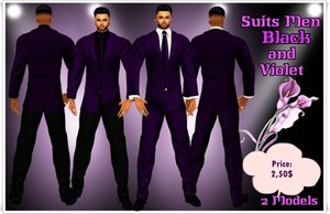Full Suit Men Violet