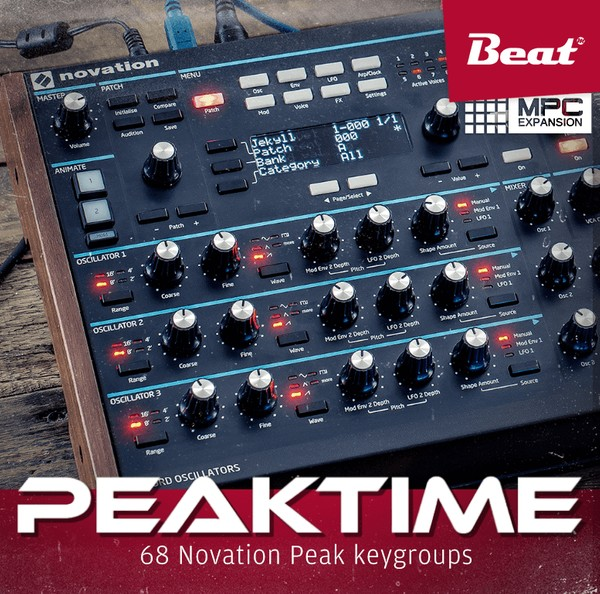 MPC Expansion: Peaktime by BEAT - 68 Novation Peak keygroups