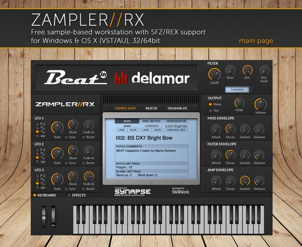 ANALOGUE RACK – pure analogue sounds for Zampler//RX workstation (Win/OSX plugin included)