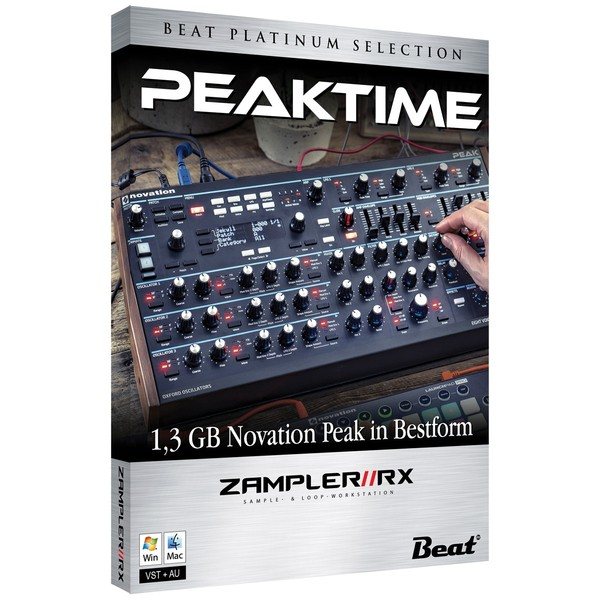 PEAKTIME – 68 Novation Peak sounds for Zampler//RX workstation (Win/OSX plugin included)