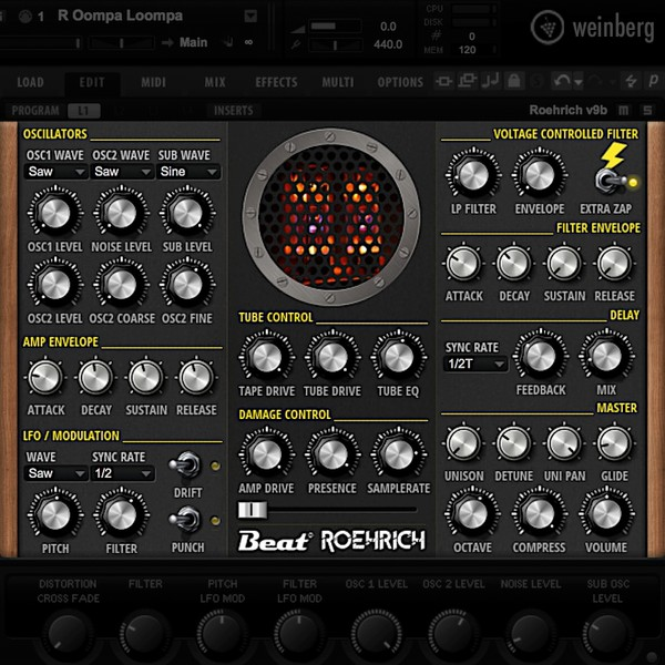 Beat ROEHRICH 12AX7 - Nasty lead & bass synth