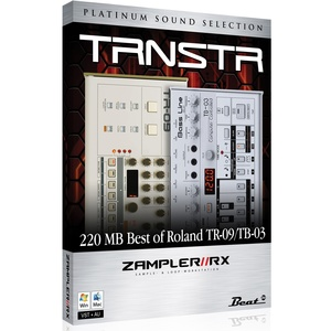 TRNSTR – TR-09/TB-03 Sound bank for Zampler//RX workstation (Win/OSX plugin included)