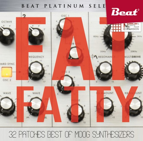 MPC Expansion: FAT FATTY - 32 patches Best of Moog Synthesizers
