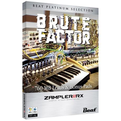 BRUTE FACTOR– 47 MiniBrute 2S patches for Zampler//RX workstation (Win/Mac plugin included)