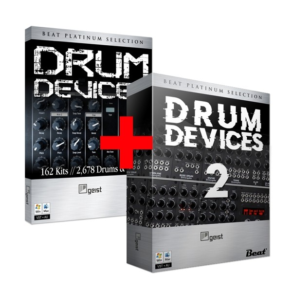 DRUM DEVICES BUNDLE – 352 drum kits for Geist Lite (plugin included)