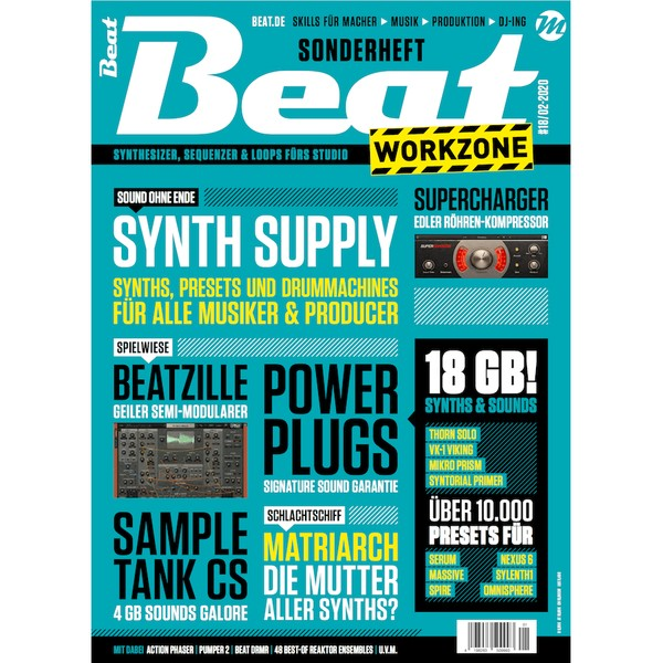 Beat Workzone 02/2020 - Including 18 GB of presets & samples