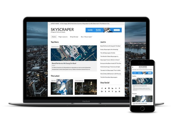 Skyscraper Weebly Magazine Theme