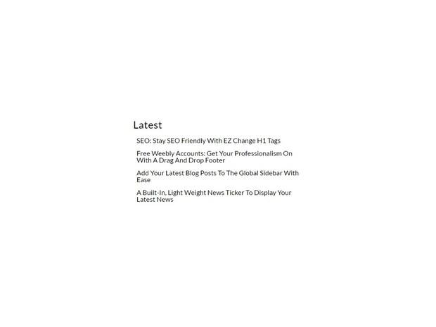 Latest Posts (Super Simple) Weebly Widget